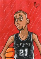 Tim Duncan sketch card by johnnyism