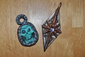 Necromancer and Elder Council Amulets by SmileyVamp