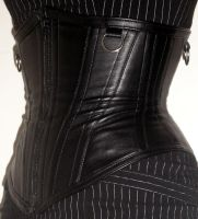 Faux leather corset by Vertina