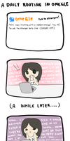 My daily routine in Omegle... by usaginu