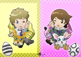 Digimon Adventure Tri ~ Petit Takari by Fayrin-kun