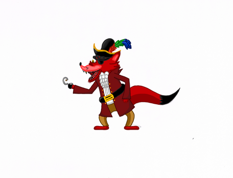Cartoon Foxy and possible new art style. by Allknownthings