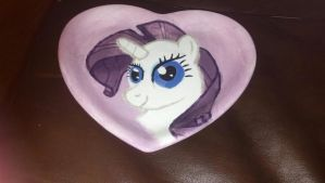 Rarity Heart Plate by ZooManiac