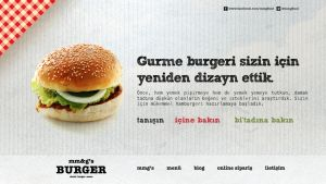 mmg's burger website by grafiket