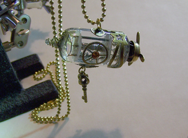 Zeppelin Airship Pendant by mymysticgems