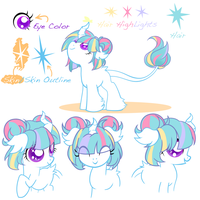 Lore ref Sheet by GlitterBell