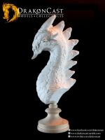 Rock Dragon bust 2 - resin cast by drakoncast