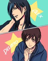 Alex Y Delano by HanzaLee
