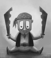 Charlie the pirate by inkbot-uk
