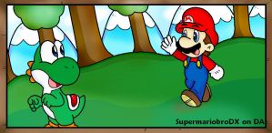 A visit to yoshi island by supermariobroDX
