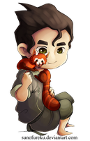 Bolin and Pabu Chibi by Sunofureku