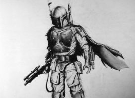 Boba Fett Drawing by MTERM775