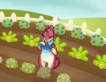 Watering Crops by Seffiron