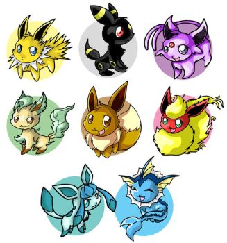 Eevee Evolution Chart by ChibiTigre