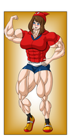 Commission - May Muscle Growth (4/6) by FudgeX02