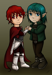 (fan art) Sorra and Azruen - chibi by Saari