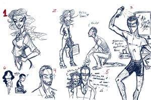 Inception Sketch dump by BlackInkHeart