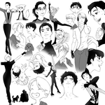 YOI (cleaned up) sketch dump by yu-oka