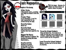 Capiz Magpapatay Monster High OC Bio by Shimmeree13