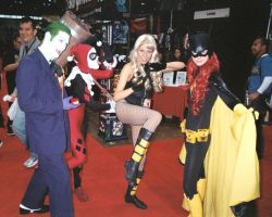 Joker, Harley Quinn, Black Canary, and Batgirl. by ComfortablyEccentric
