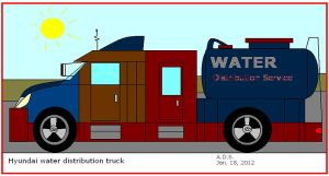 Water Distribution Truck by artluvr4life