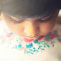 Painting her nose ,, by MahaPhotography
