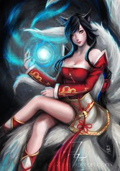 Ahri Fanart (Fix) by AimedZ