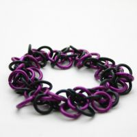 Purple Shaggy Loops Bracelet by Utopia-Armoury