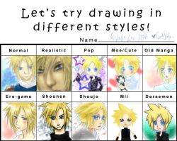 Clouds Strife Meme by MicehellWDomination