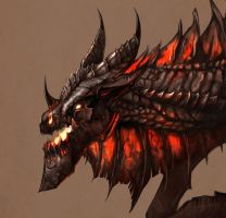 Deathwing - Close up by MeWannaLearn