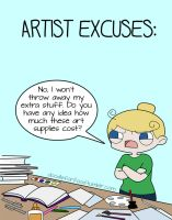 Artist Excuses: Art supplies by DoodleForFood