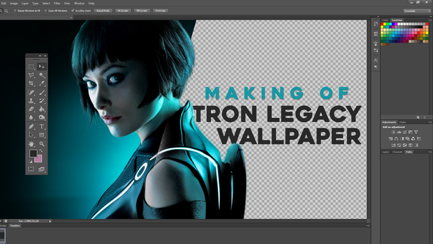 Making Of TRON Legacy Wallpaper YT cover by knorberthu