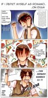 #If I depict myself as Romano : on Exam (Day 1) by Billica-Riverdine
