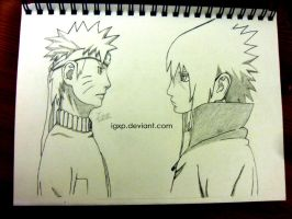 Naruto Vs. Sasuke by igxp