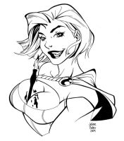 Power Girl Inked Up Literally by tygertailzz