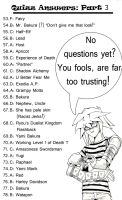 Yu-Gi-Oh! Fan quizz: Generic Answers 53-78 by SpamCrackers