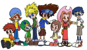 Digimon 01 Cast by Blitzkrieg1701