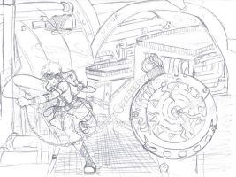 Vuelo in Action- Sketch- WIP by vanna6yaoiheaven
