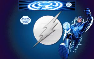 Blue Lantern Flash by abard