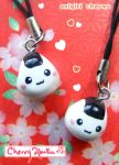 Cute Onigiri Charms by CherryAbuku
