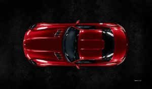 Mercedes Benz SLS AMG (top view) by Laffonte