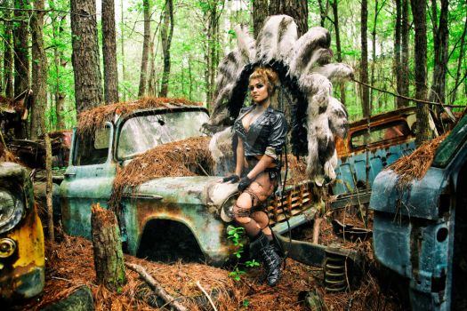 Nikki Nuke'm at Old Car City USA - I by DimHorizonStudio