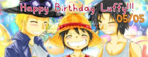 OP - Happy B.Day Luffy 2 by Umi-Mizuno