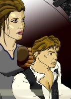 Han and Liea by PaulSkywalker