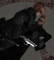 Steve confronts Wesker by DamianHandy