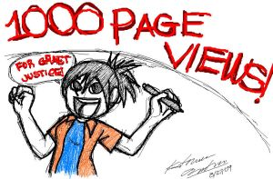 Thanks 1000 pageviews by Peepsicle