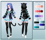 Iza Reference Sheet ver. 2-b by Mielluu
