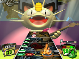 Guitar Hero Meowth by The-Great-B-Man