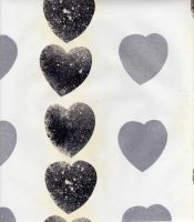Silver hearts paper by Stock-Estrilda