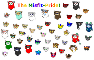 Misfit Pride Members by MidnightFox31